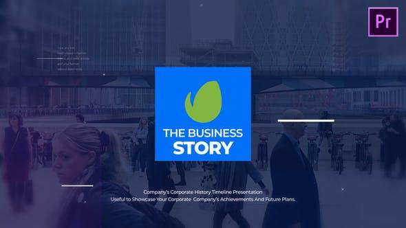 پروژه آماده پریمیر با موزیک معرفی سابقه شرکت The Business Story MOGRT