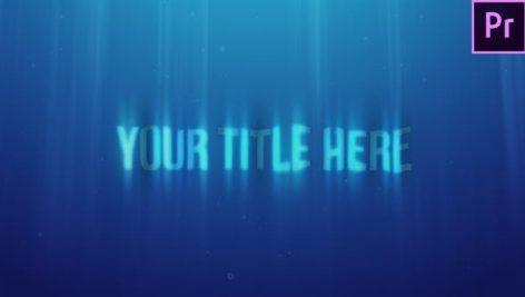 پروژه آماده پریمیر تایتل با افکت زیر آب Underwater Title Reveal