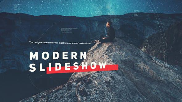 پروژه افترافکت با موزیک اسلایدشو مدرن Modern Slideshow