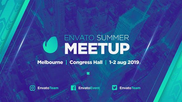پروژه افترافکت با موزیک تبلیغات همایش Biggest MeetUp Event Promo