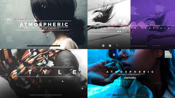 پروژه افترافکت با موزیک  وله پارازیت Atmospheric Opener