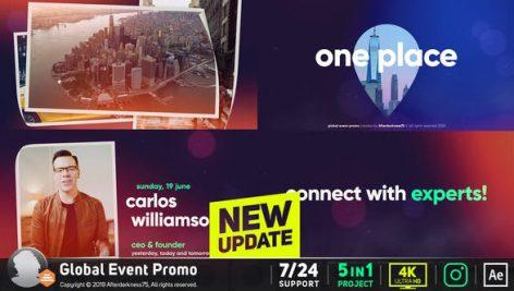 پروژه افترافکت رزولوشن ۴K با موزیک تبلیغات همایش Event Promo