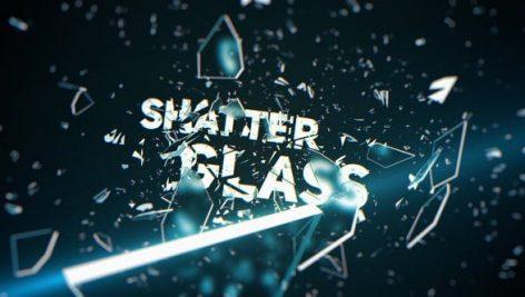 پروژه افترافکت رزولوشن ۴K با موزیک وله شیشه شکسته Shatter Glass Trailer