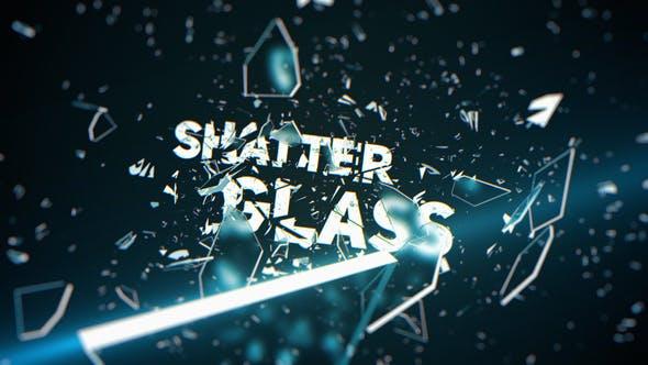 پروژه افترافکت رزولوشن 4K با موزیک وله شیشه شکسته Shatter Glass Trailer