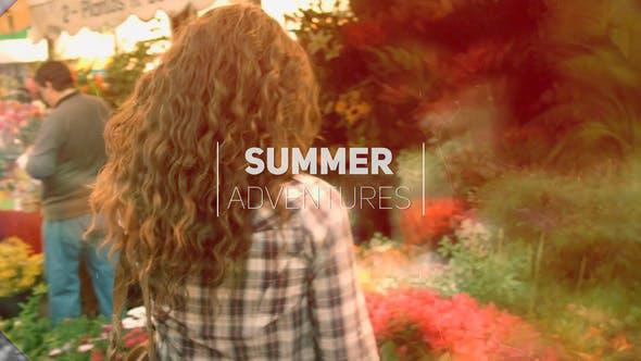 پروژه پریمیر با موزیک  اسلایدشو ماجراهای تابستان Summer Adventure