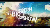 پروژه پریمیر با موزیک اسلایدشو گلیچ Big Titles Glitch Slideshow for Premiere Pro