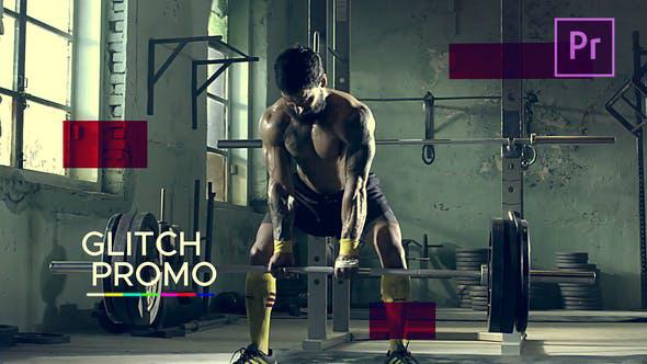 پروژه پریمیر با موزیک  تیتراژ اسپرت با افکت نویز Sport Glitch Promo
