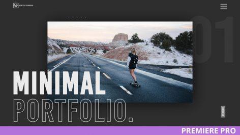 پروژه پریمیر با موزیک وله و تیتراژ معرفی Minimal Portfolio Promo