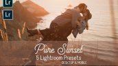 پریست لایت روم دسکتاپ و موبایل تم خورشید Pure Sunset Lightroom Presets