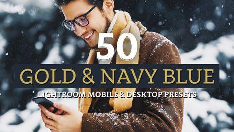 پریست لایت روم دسکتاپ و موبایل تم طلایی Gold Navy Lightroom Presets