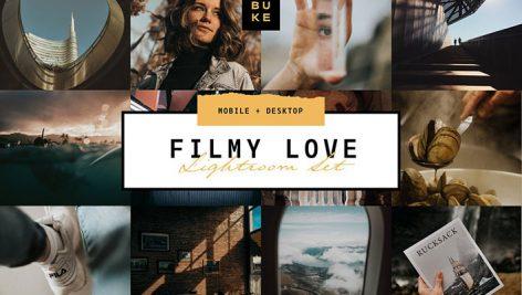 پریست لایت روم دسکتاپ و موبایل تم فیلم Film Lightroom Presets Bundle