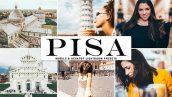 پریست لایت روم و پریست کمرا راو تم برج پیزا Pisa Lightroom Presets Pack