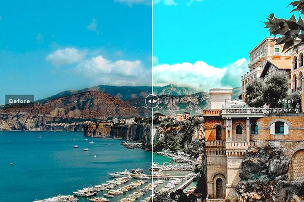 پریست لایت روم و پریست کمرا راو تم ناپل ایتالیا Naples Lightroom Presets Pack