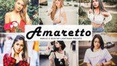 پریست لایت روم و Camera Raw و اکشن Amaretto Mobile Desktop Lightroom Presets