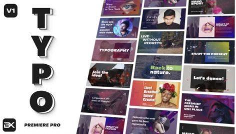 تایتل آماده پریمیر رزولوشن ۴K پکیج ویژه Typography Title Pack