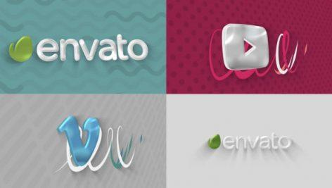 دانلود پروژه افترافکت لوگو با موزیک افکت رنگارنگ Stylish Logo Sting