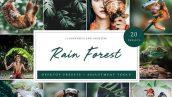دانلود پریست لایت روم تم جنگل بارانی Rain Forest Desktop Presets
