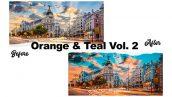 دانلود پریست لایت روم تم قرمز و آبی Orange & Teal Vol. 2 Premium Lightroom Presets