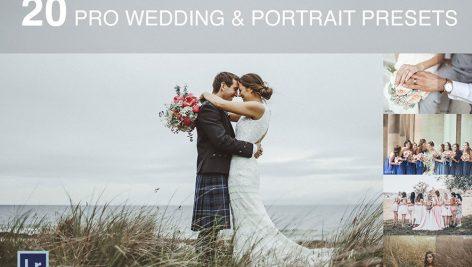 دانلود ۲۰ پریست لایت روم عروسی wedding and portrait presets