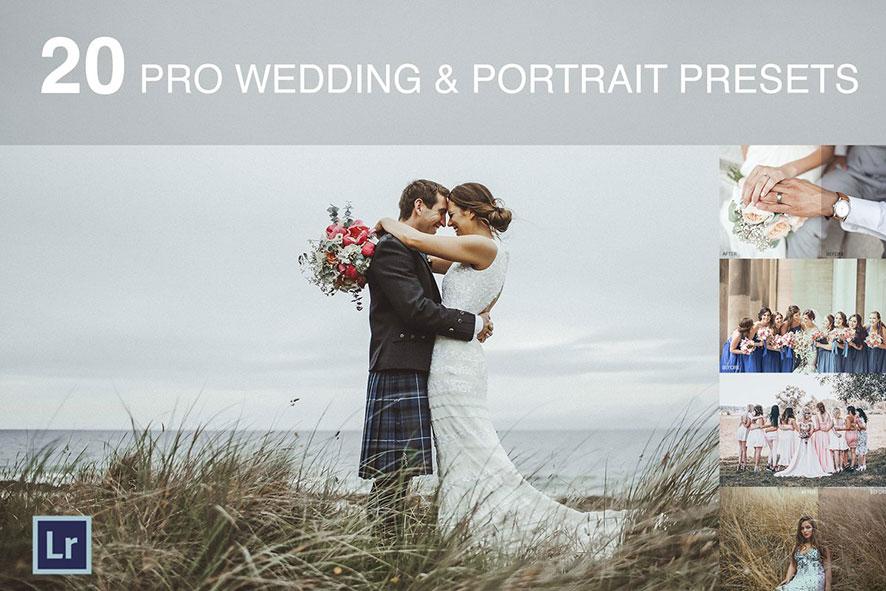 دانلود 20 پریست لایت روم عروسی wedding and portrait presets