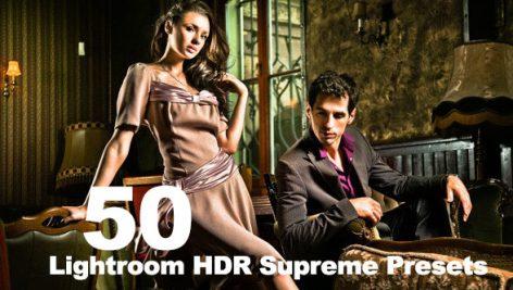 دانلود 50 پریست لایت روم تم کنتراست رنگ Lightroom HDR Supreme Presets