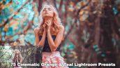 دانلود 75 پریست لایت روم تم سینمایی Cinematic Orange And Teal Lightroom Presets