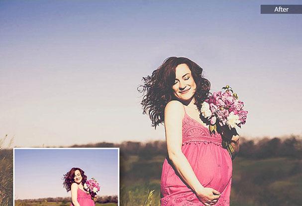 دانلود 75 پریست لایت روم حرفه ای تم بارداری Maternity Lightroom Presets