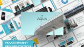 قالب آماده پاورپوینت تم تجارت Aqua Business Powerpoint Keynote and Google Slides Presentation