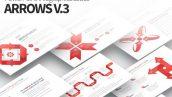 قالب پاورپوینت حرفه ای تم اینفوگرافیک ARROWS V.3 PowerPoint Infographics Slides