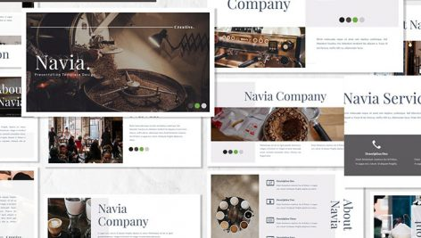 قالب پاورپوینت حرفه ای تم قهوه Navia Coffee Powerpoint Template