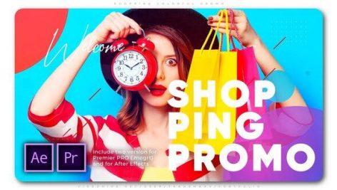 پروژه آماده پریمیر با موزیک تبلیغات فروشگاهی Shopping Colorful Promo