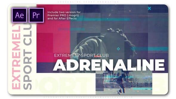 پروژه آماده پریمیر با موزیک تیتراژ و وله فشن و اسپرت Adrenaline Sport Promotion
