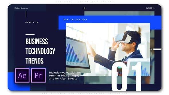 پروژه آماده پریمیر با موزیک معرفی شرکت و محصولات Business Technology Trends