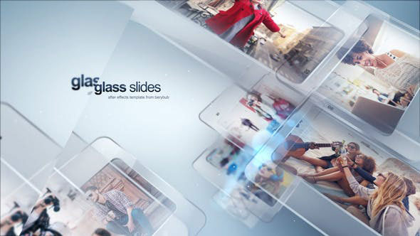 پروژه افترافکت با موزیک اسلایدشو شیشه ای Modern Glass Slide