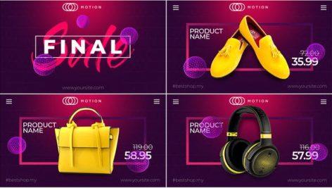 پروژه افترافکت با موزیک تبلیغات فروشگاهی Final SALE Online Market