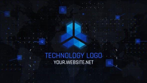 پروژه افترافکت لوگو با موزیک افکت تکنولوژی مدرن Technology Logo