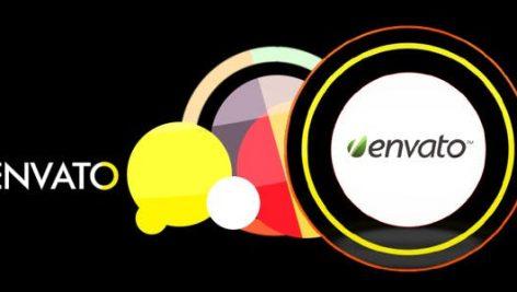 پروژه افترافکت لوگو با موزیک افکت رنگی Modern Logo Reveal