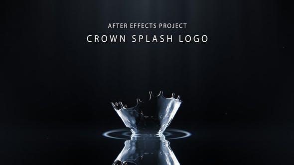 پروژه افترافکت لوگو با موزیک افکت قطره آب Water Splash