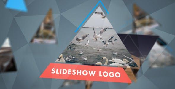 پروژه افترافکت لوگو با موزیک افکت مثلثی Triangular Mini Slideshow Logo Mix
