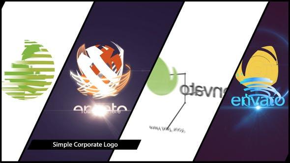 پروژه افترافکت لوگو با موزیک افکت مدرن Simple Corporate Logo