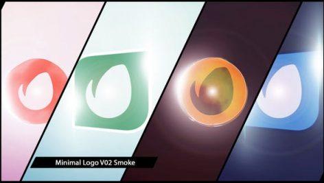 پروژه افترافکت لوگو با موزیک افکت نورانی Minimal Logo V02 Smoke