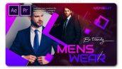 پروژه پریمیر اسلایدشو فشن اسپرت مردانه Menswear Fashion Opener