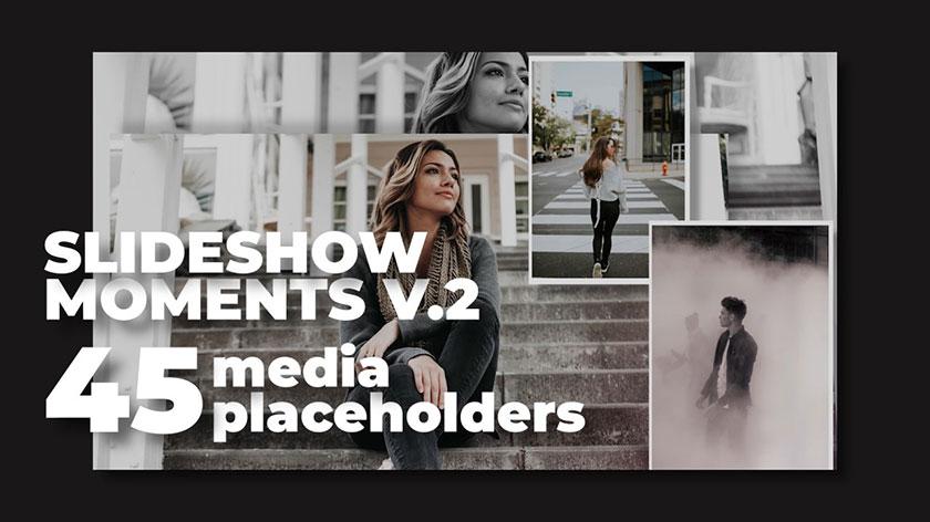 پروژه پریمیر با موزیک اسلایدشو تم خاطرات Slideshow Moments