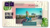 پروژه پریمیر با موزیک اسلایدشو تم فشن و مدلینگ Style of Woman Fashion Slideshow