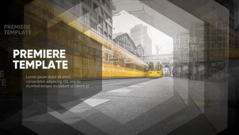 پروژه پریمیر با موزیک اسلایدشو تم ۶ ضلعی Slideshow Stylish Hexagon Premiere Pro