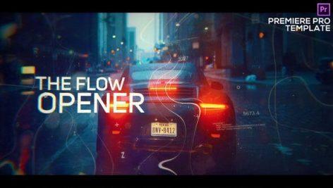 پروژه پریمیر با موزیک اسلایدشو دیجیتال Digital Flow Modern Opener for Premiere Pro