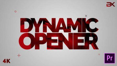 پروژه پریمیر با موزیک رزولوشن ۴K تیتراژ و وله سینمایی حماسی Dynamic Stomp Opener