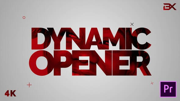 پروژه پریمیر با موزیک رزولوشن 4K تیتراژ و وله سینمایی حماسی Dynamic Stomp Opener