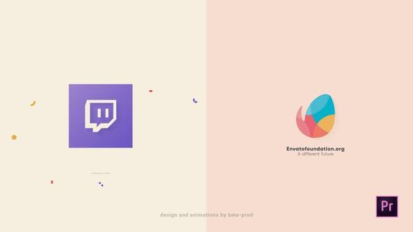 پروژه پریمیر رزولوشن 4K با موزیک  لوگو و آرم رنگی Simple Colorful Logo Opener