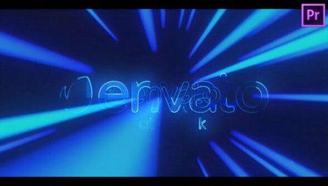 پروژه پریمیر رزولوشن ۴K با موزیک : لوگو و آرم Light Tunnel Logo Reveal for Premiere Pro